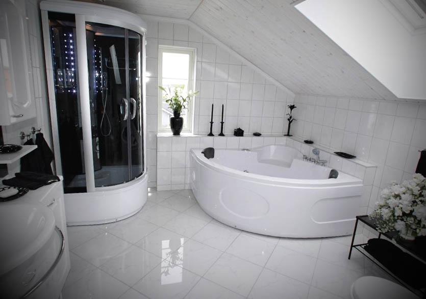 Ideias de Banheiros com Banheira -> Banheiro Com Banheira Dimensões