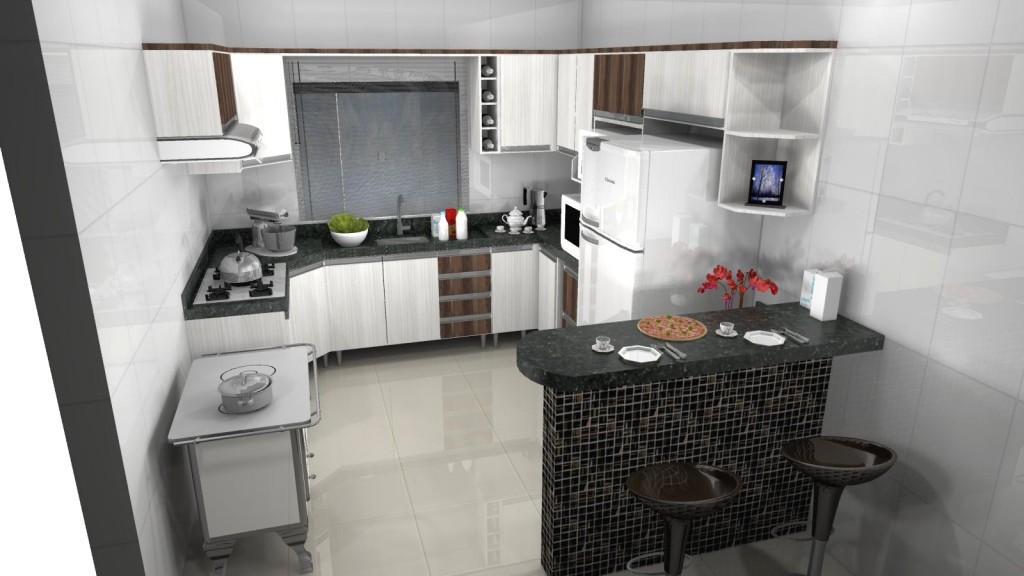 Modelos de cozinhas planejadas pequenas