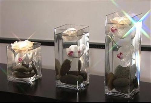 Decoração-vasos-de-vidro