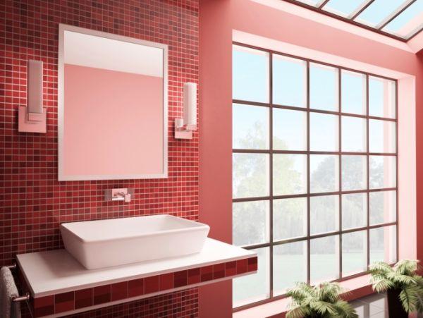 Banheiros com pastilhas vermelhas -> Decoracao De Banheiro Com Pastilhas Vermelhas