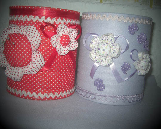 Latas Decoradas romanticas