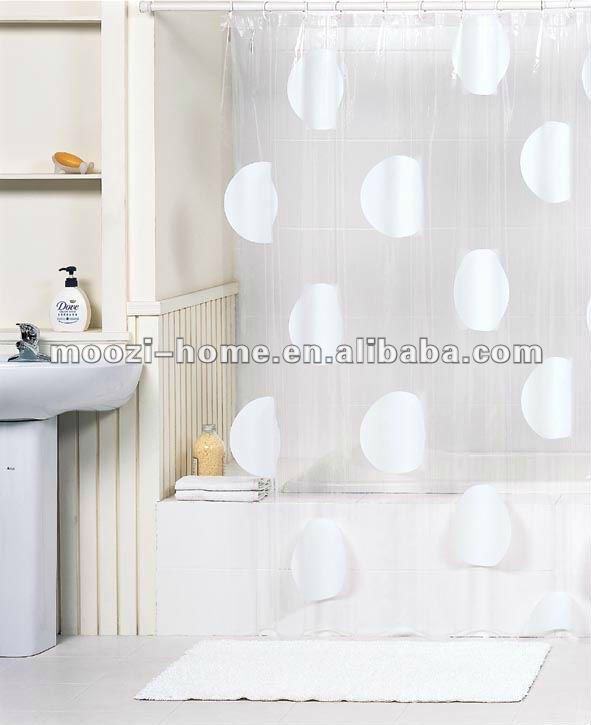 Transparent Bathroom Curtain