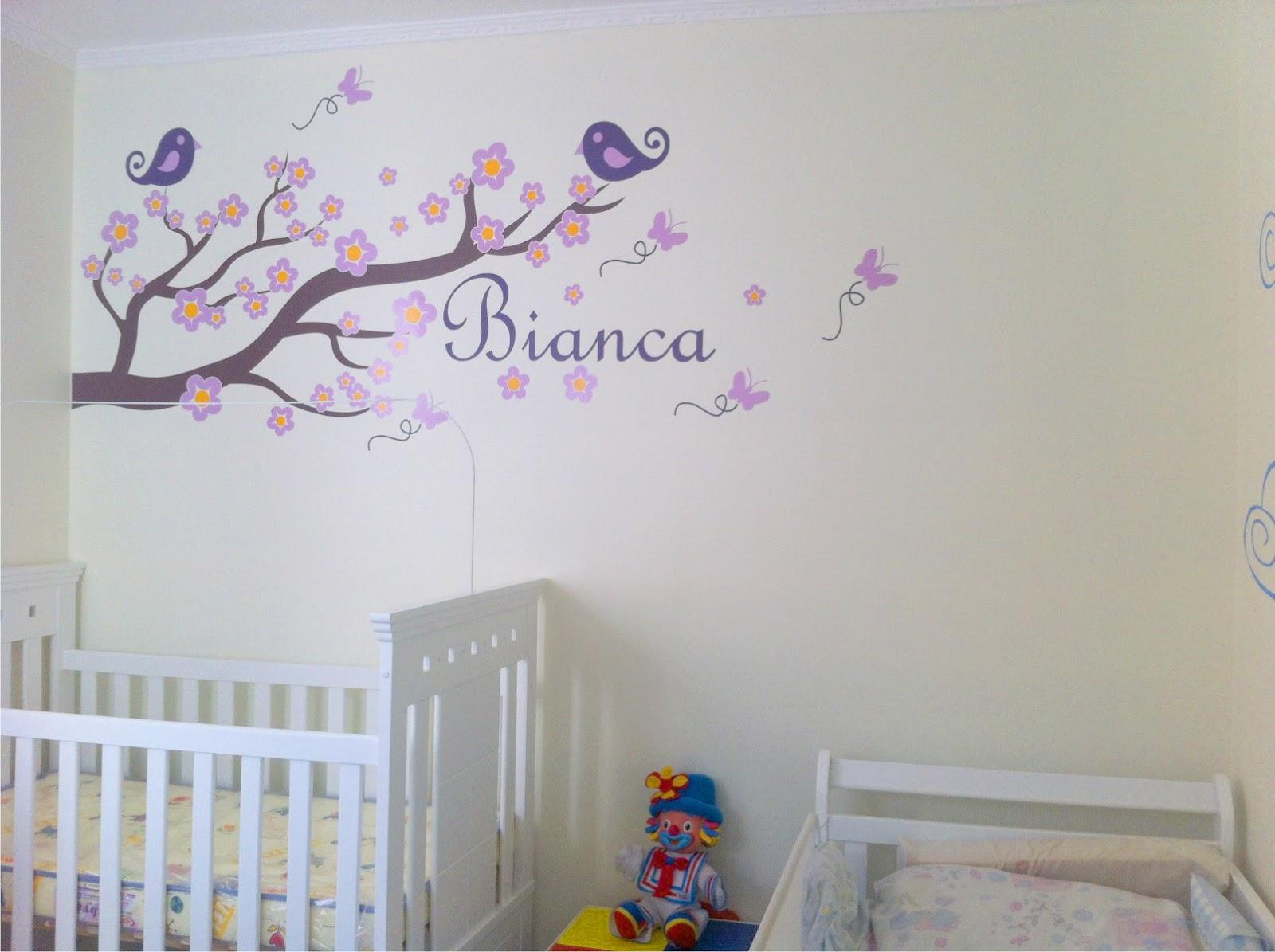 Ideias de adesivos decorativos para quarto de bebé ~ Adesivos De Parede Para Quarto De Bebe Feminino
