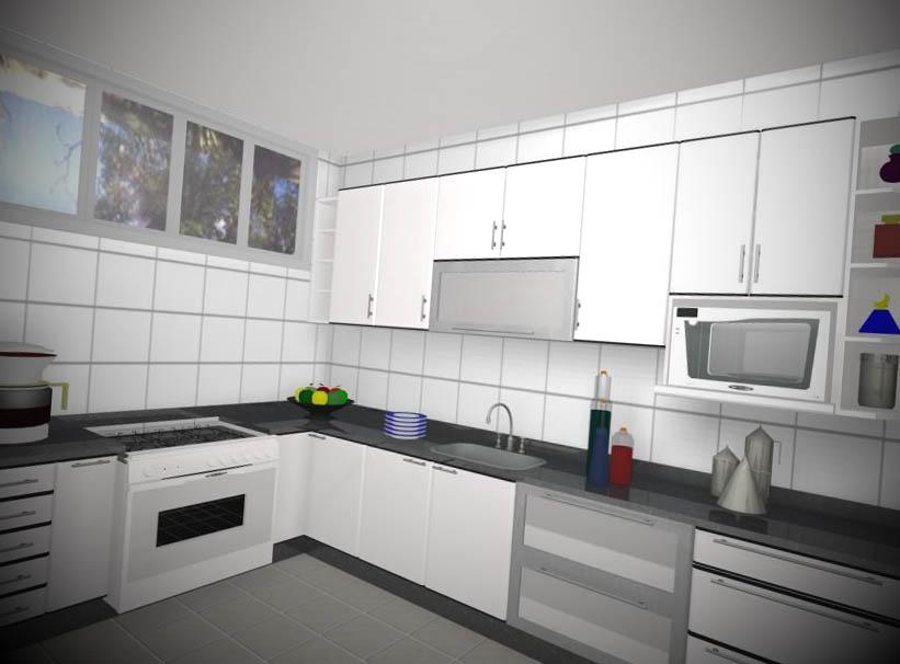 12 Armários de Cozinha Planejado # Armario De Cozinha Semi Planejado