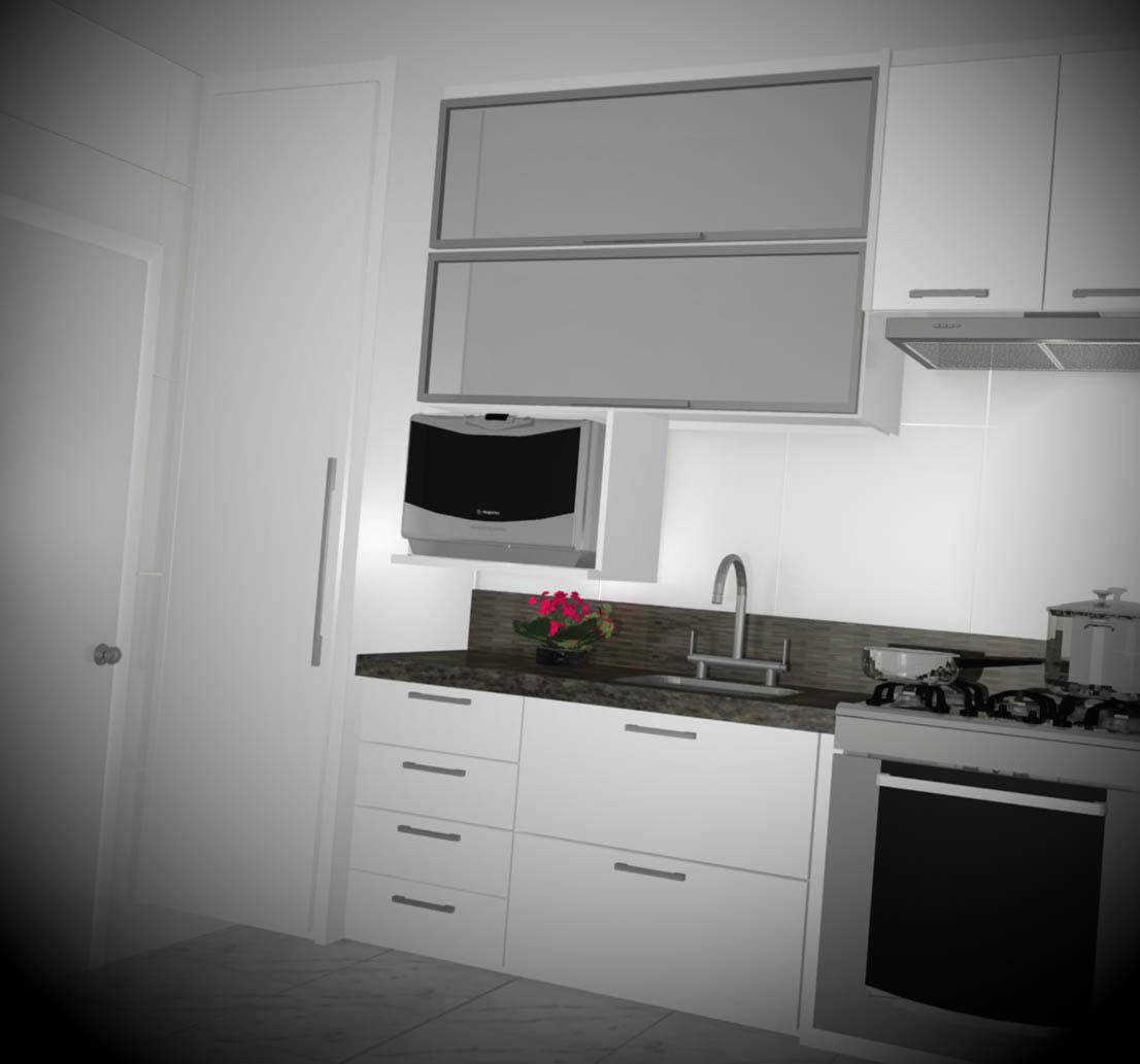 Mesa Aparador Verde ~ 12 Armários de Cozinha Planejado