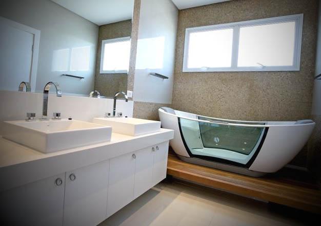 Ideias de Banheiros com Banheira -> Decoracao De Banheiro Com Banheira Antiga