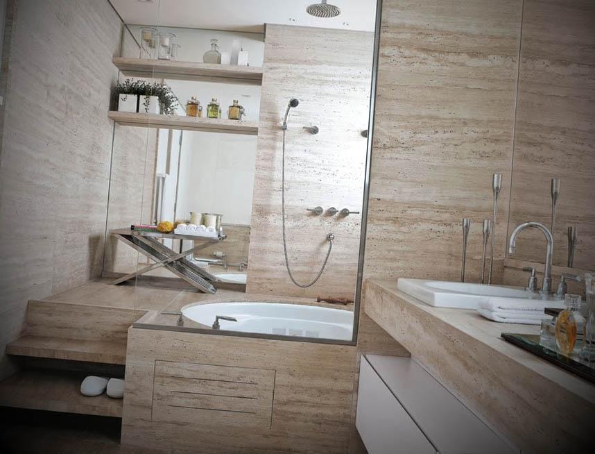 Ideias de Banheiros com Banheira -> Revestimento De Banheiro Com Banheira