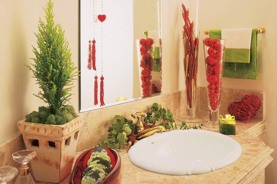 Decoração de Natal para Banheiros -> Banheiro Decorado Para Natal