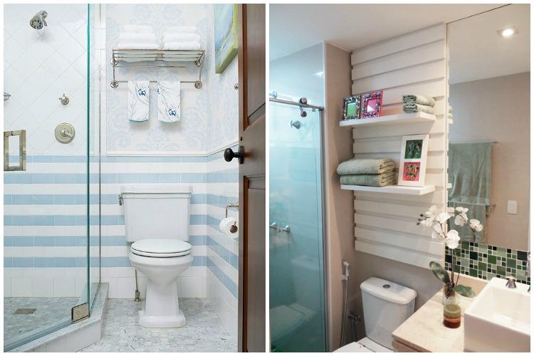 15+ Ideias Criativas para Decorar Banheiros -> Decoracao De Banheiro Pequeno E Barato