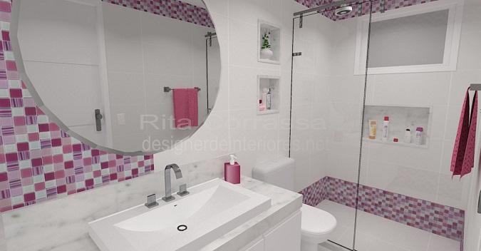 Esquenta Cidade  O portal de notícias -> Banheiro Decorado Com Pastilhas Lilas