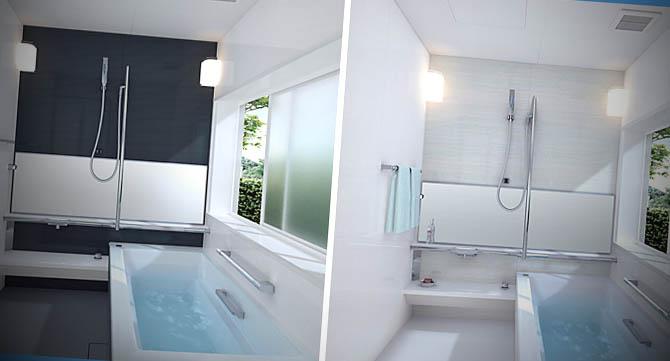 Ideias de Banheiros com Banheira -> Banheiro Pequeno Com Banheira Simples