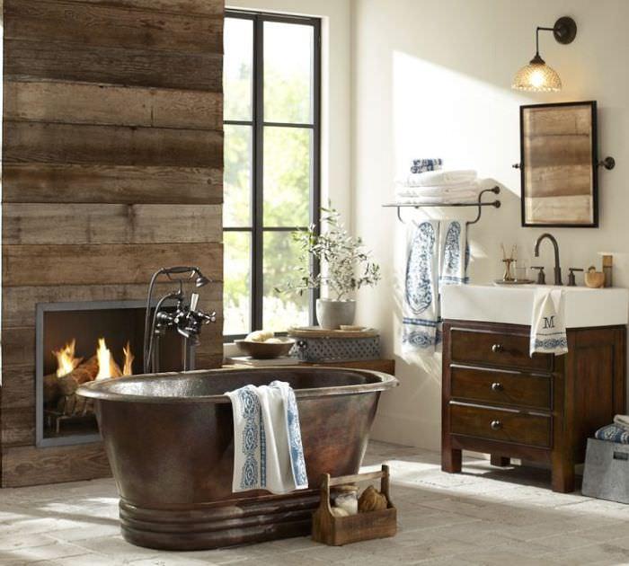 Decoração Rústica para Banheiros -> Decoracao Banheiro Rustica