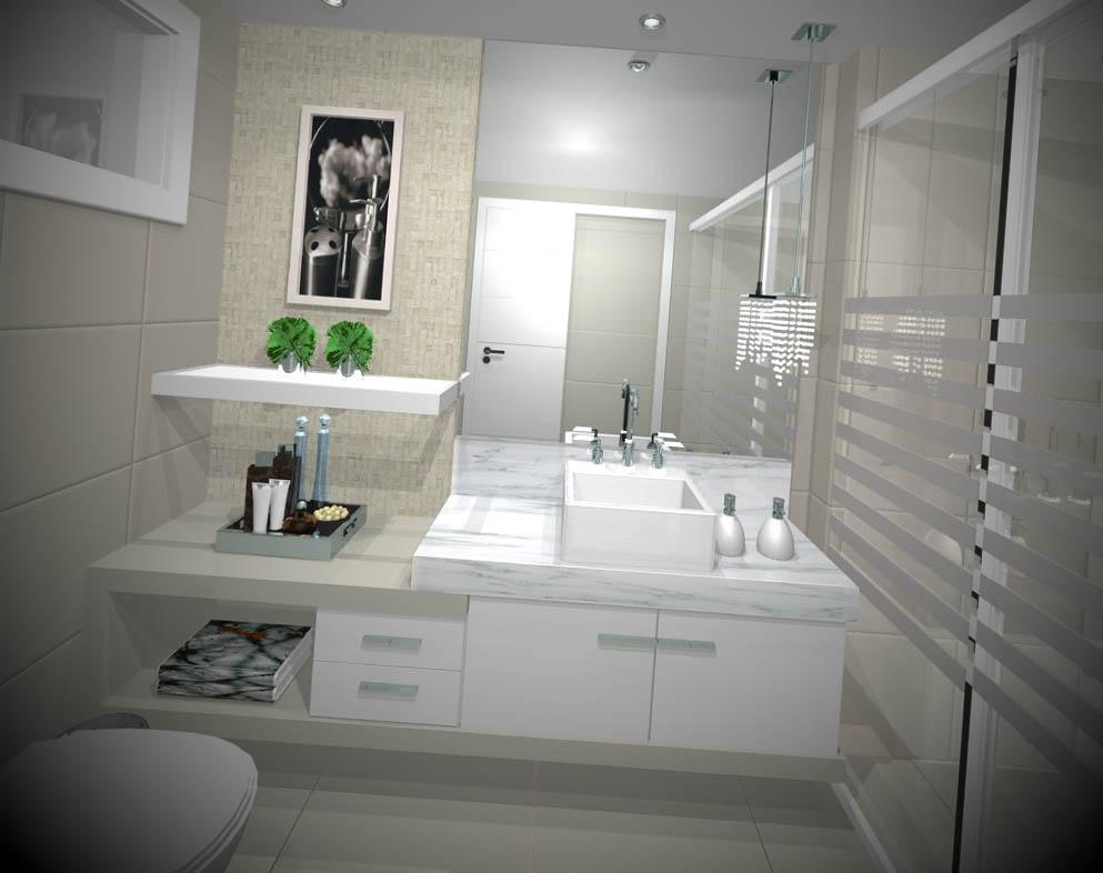 12 Ideias de Banheiros Modernos Decorados -> Banheiros Decorados Incepa