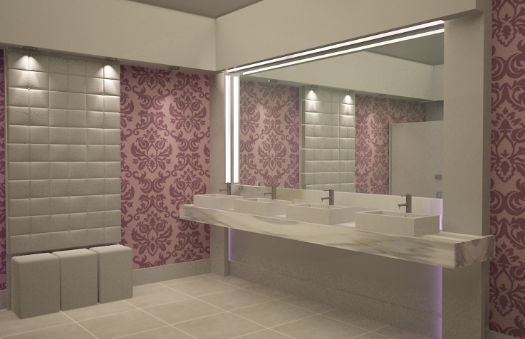 Decoração de banheiros femininos  Fotos, dicas e tendências -> Foto Banheiro Feminino