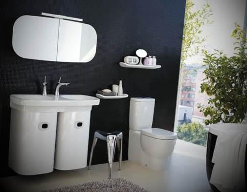 12 Banheiros Pretos Decorados -> Banheiros Modernos Em Preto E Branco