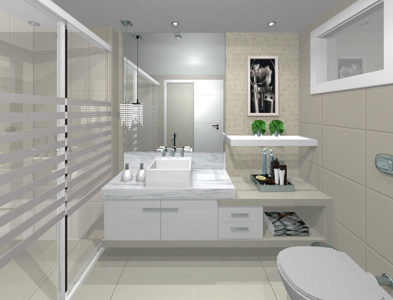 Viver & Decorar -> Banheiros Simples Com Ceramica