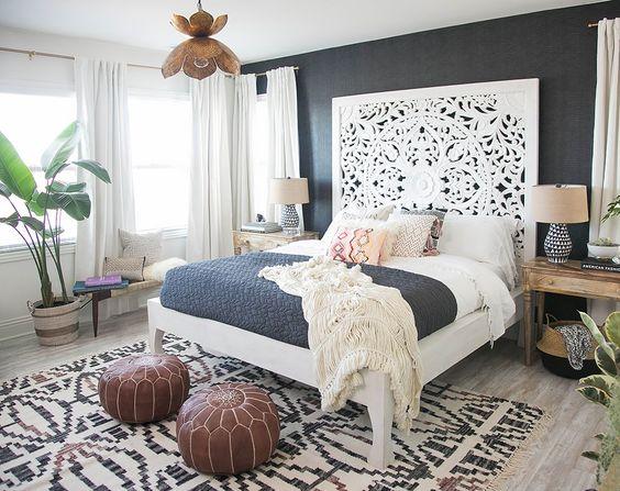 Beautiful Boho Bedroom Decorating Ideas And Photos: Cabeceiras De Cama