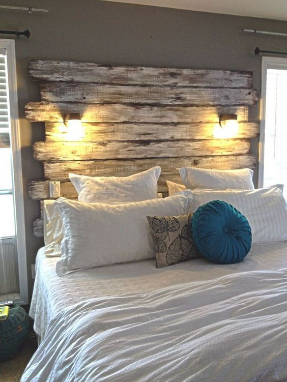 cabeceira cama paletes