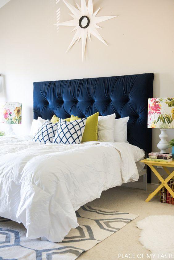 cabeceira cama tecido