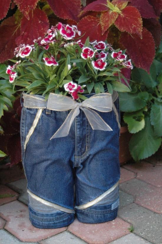 canteiros jeans velhos 6