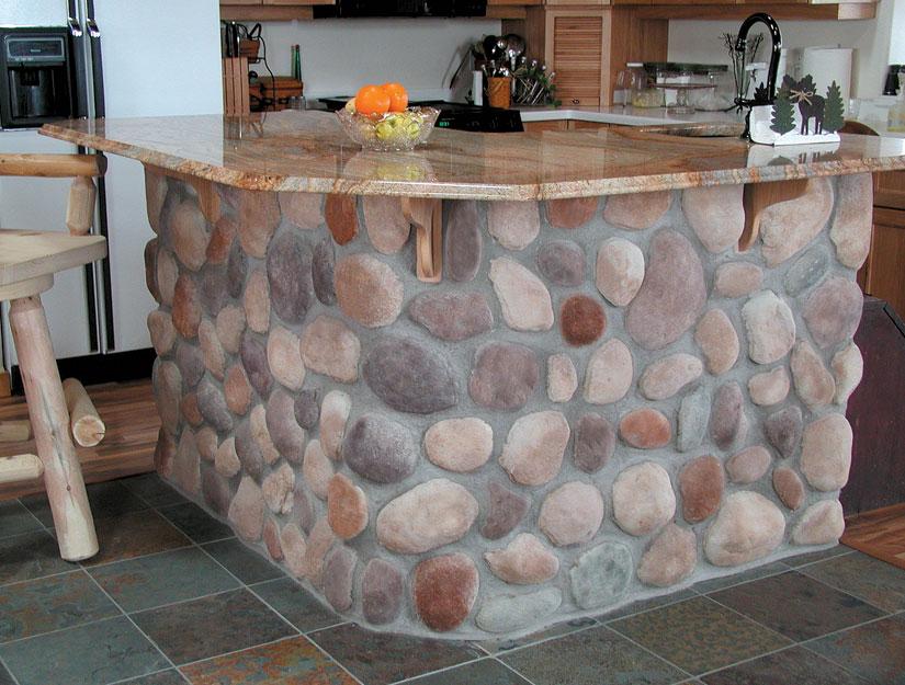 casa decorada com rochas 2