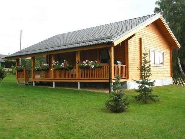 Casas pr fabricadas de madeira for Modelos cabanas rusticas pequenas