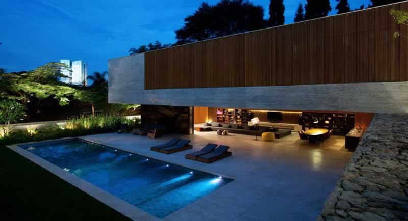 casas modernas com piscina modelo