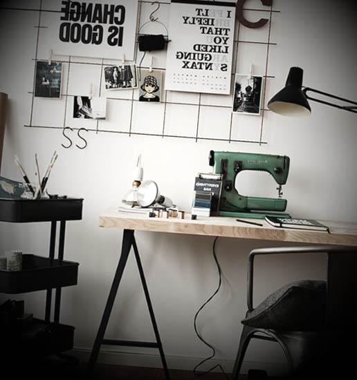 como-decorar-escritorio-retro