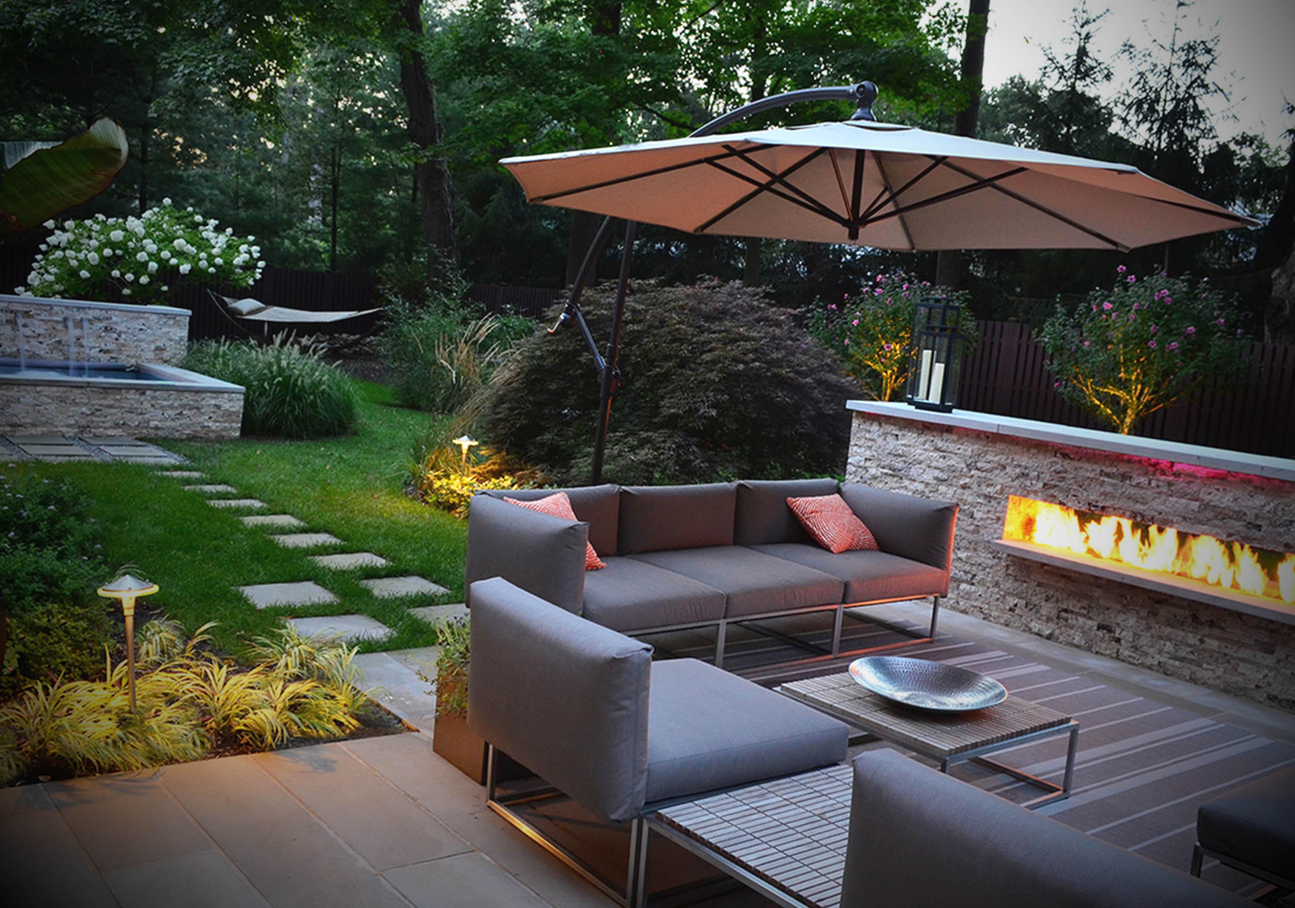Fotos de jardins externos decorados for Sofa exterior jardim