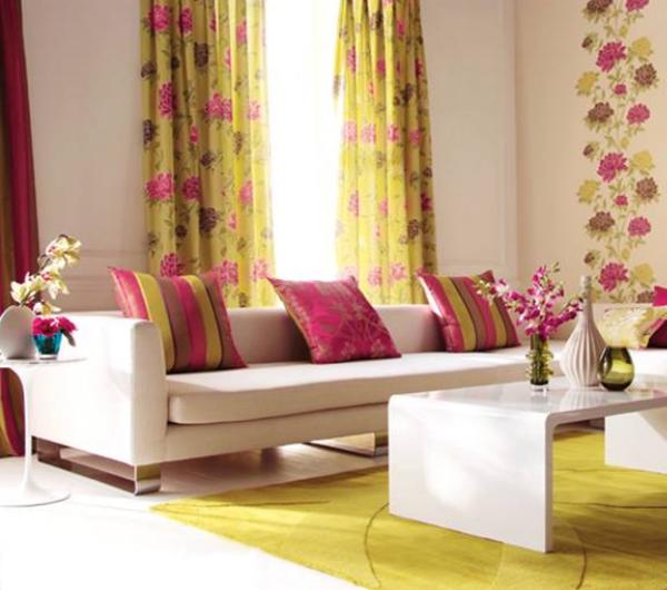 cortinas florais