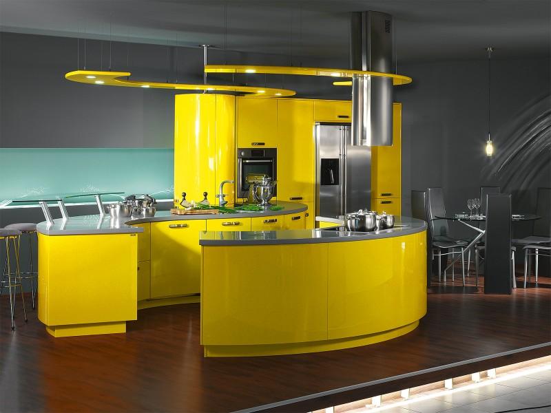 cozinha kitnet amarela