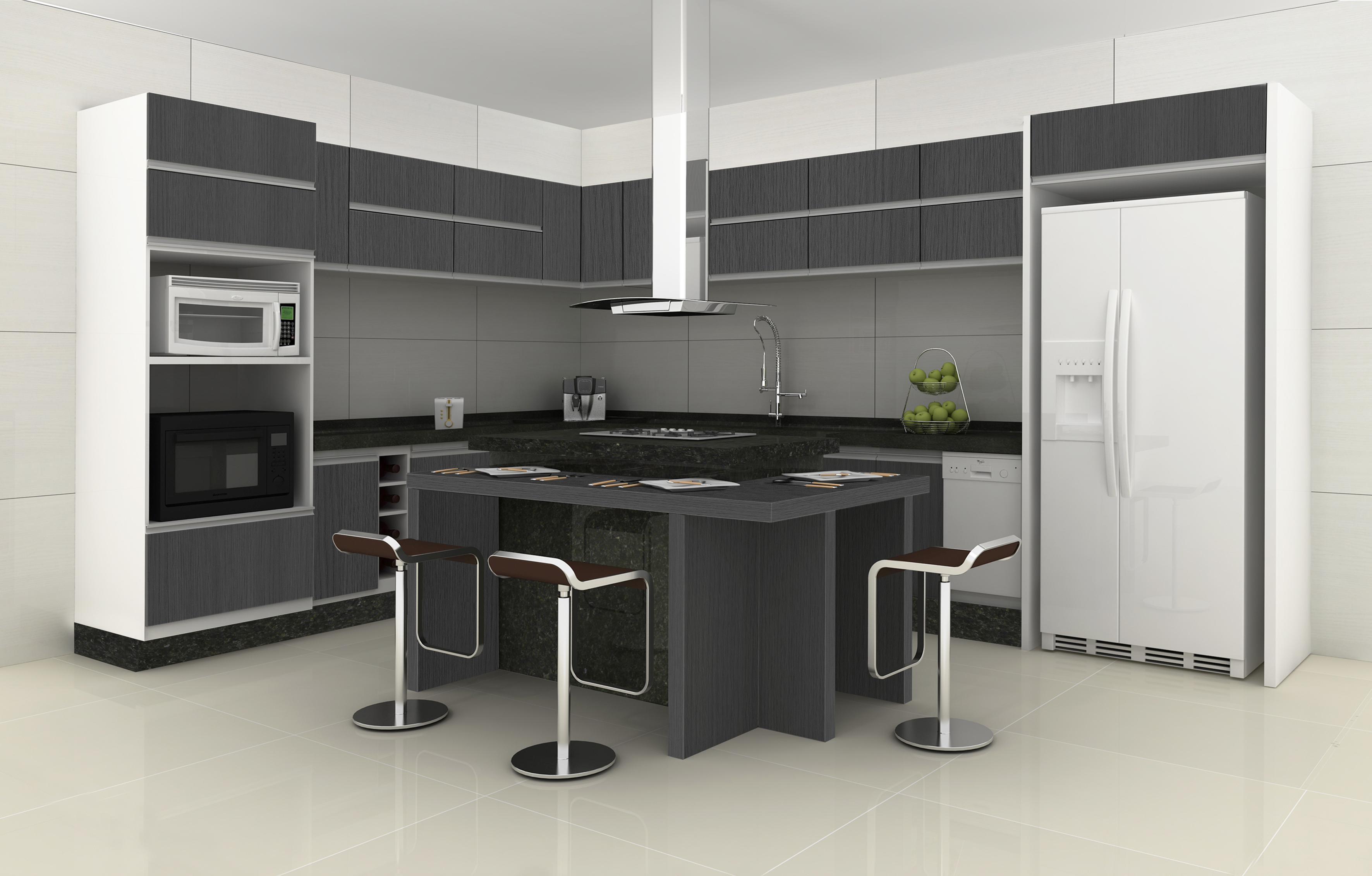 cozinha modulada com ilha
