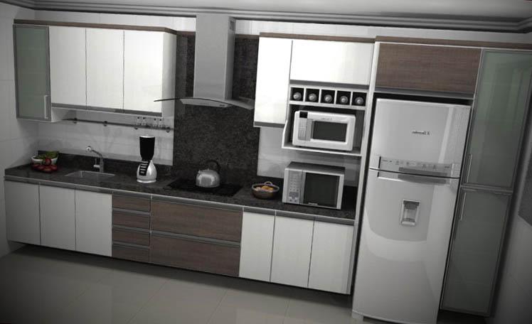 12 arm rios de cozinha planejado for Modelos de armarios modernos