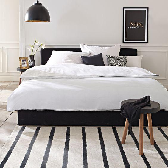 decoraçao preto branco quarto