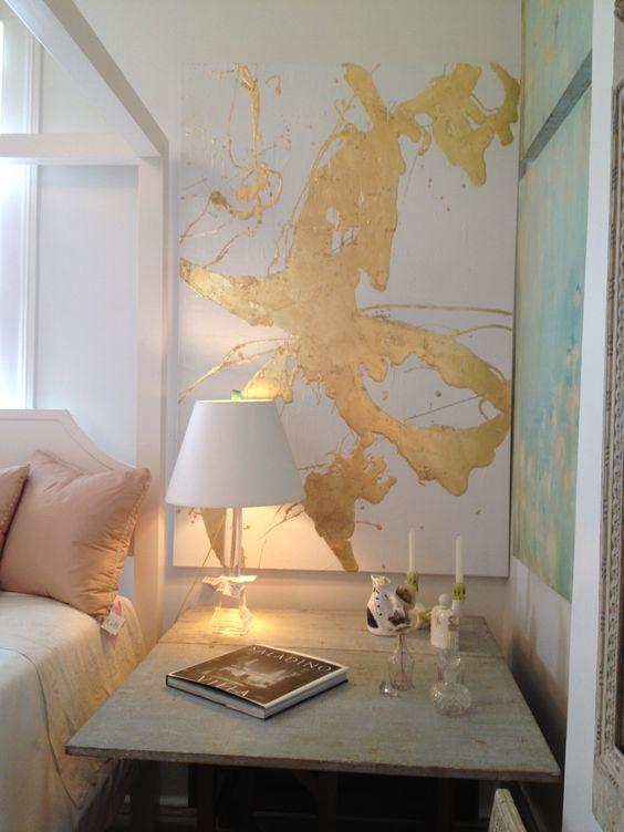 decoraçao quadro dourado