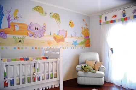 decoração-de-quarto-de-bebe-com-papel-de-parede