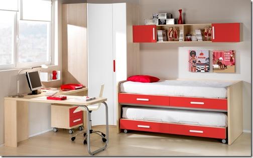decoração quarto infantil camas compactas