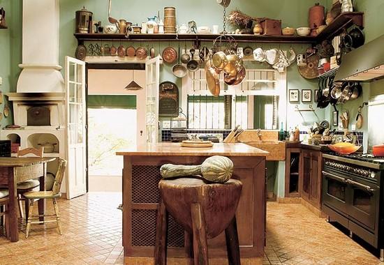decorações rusticas para cozinha