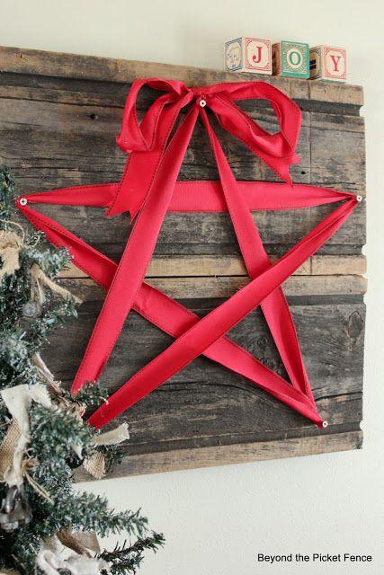 decoraçao natal diy estrela