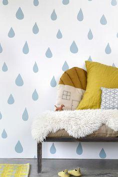 decoracao com papel parede quarto criança