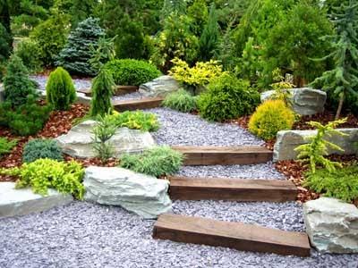 decoracao de jardim com pedras