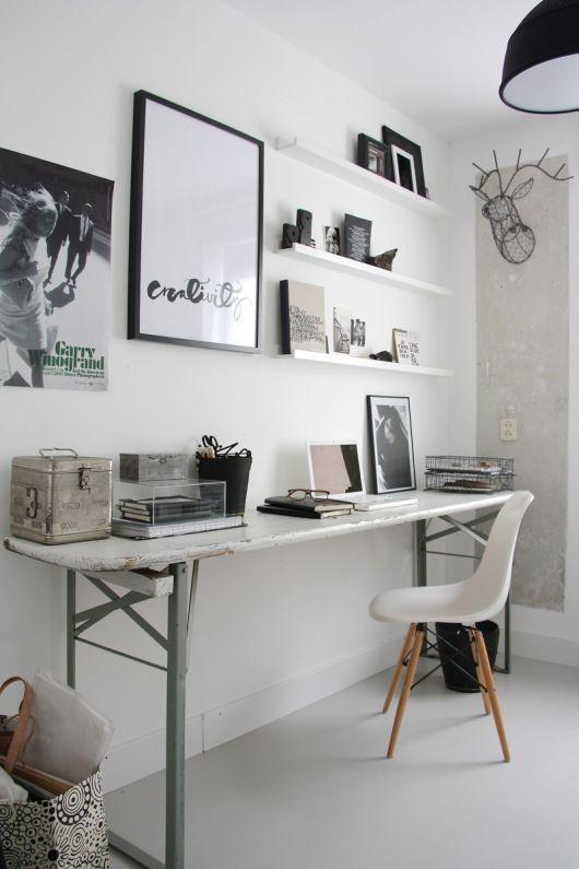 decoracao escritorio preto branco