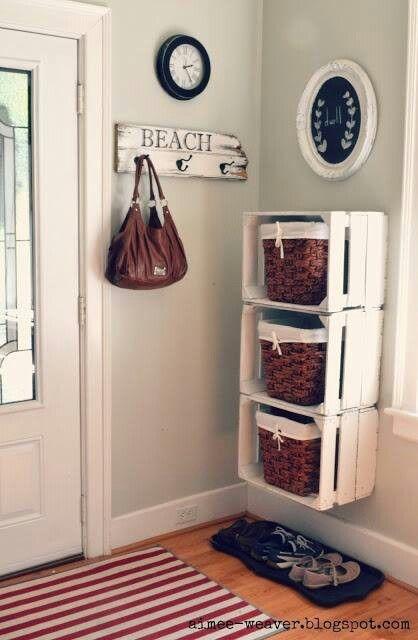 decoracao hall entrada caixotes madeira