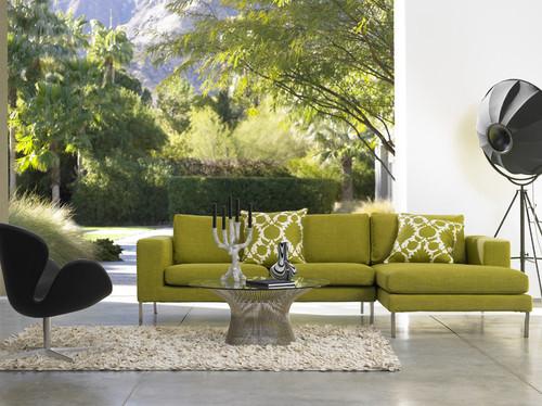 decoracao sala verde moderna Decoração da casa em tons verde