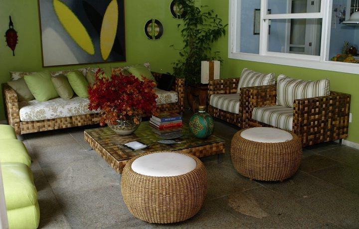 decoracao sala verde Decoração da casa em tons verde