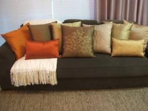 decorar salas almofadas Decoração de salas