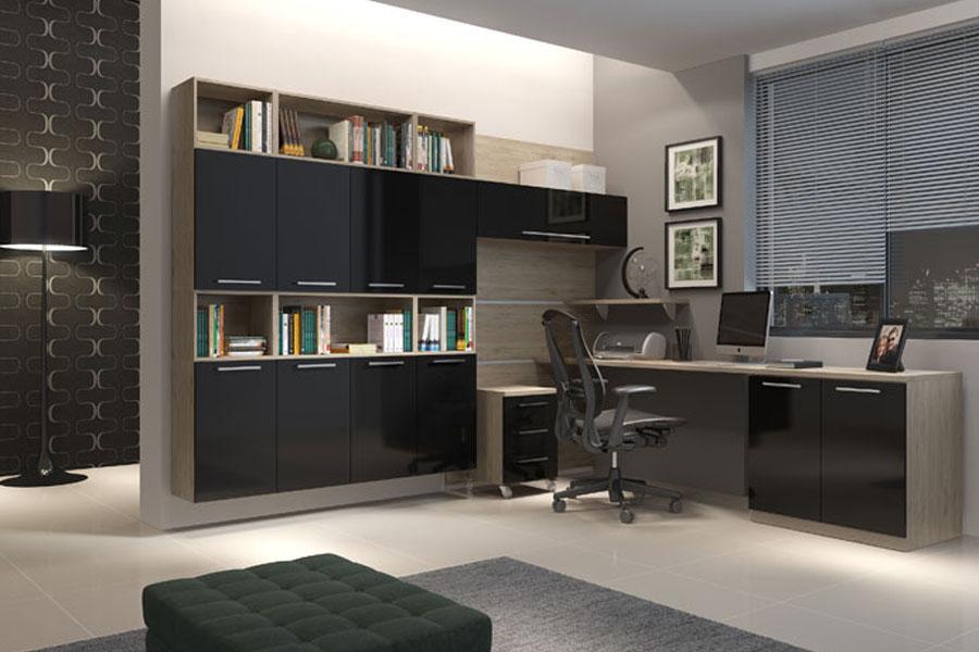 escritorio de luxo em casa
