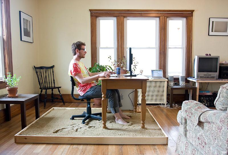 escritorio em casa foto