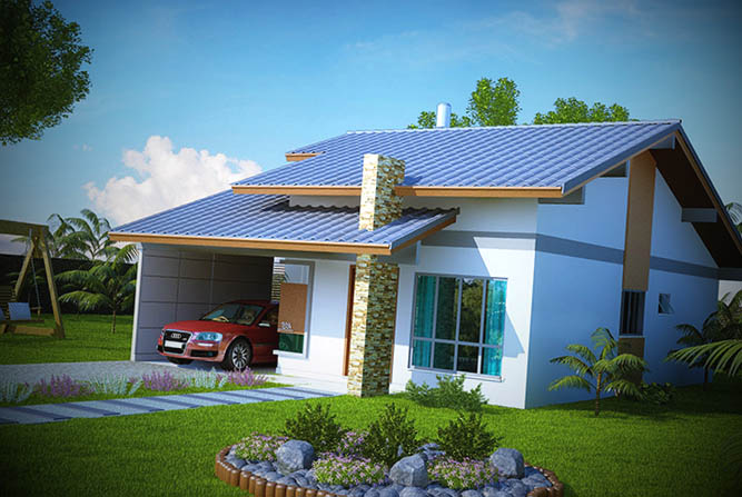 Fachadas casas pequenas for Modelos de frentes de casas modernas