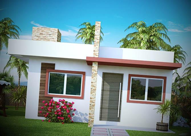 12 fachadas de casas pequenas for Modelos de casas pequenas